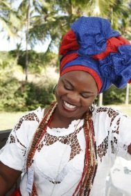 A lady in typical Afro-Brazilian 'baina' dress